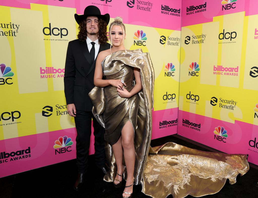 Gabby Barrett and Cade Foehner at the 2021 Billboard Music Awards