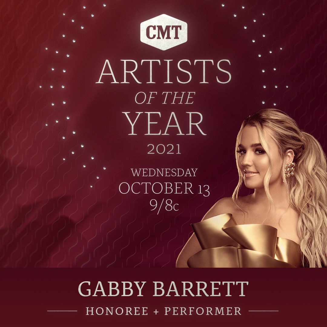 2021 CMT Artists Of The Year Honoree & Performer Gabby Barrett