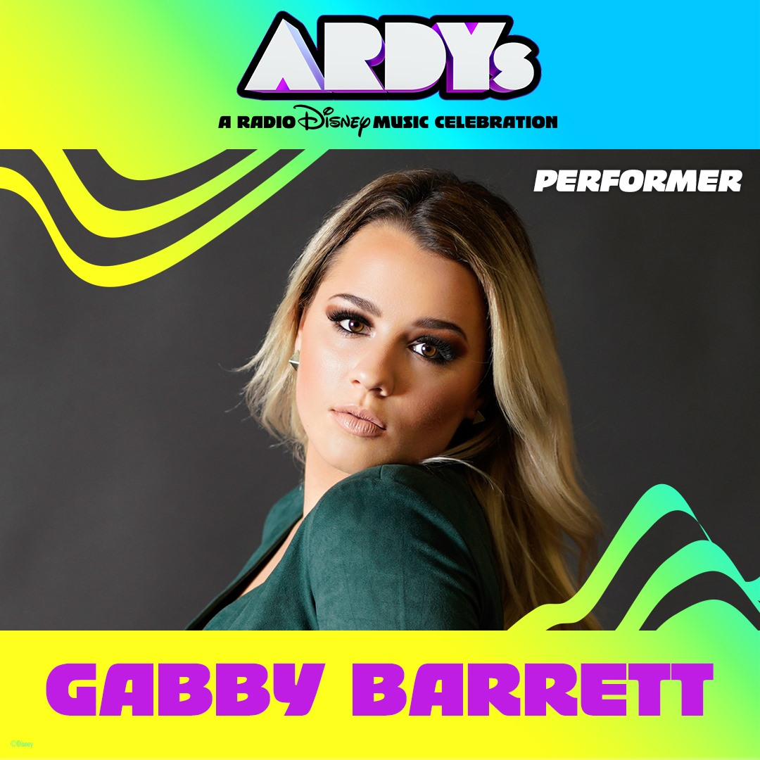 Gabby Barrett to Perform Live at ARDYs: A Radio Disney Music Celebration - June 16
