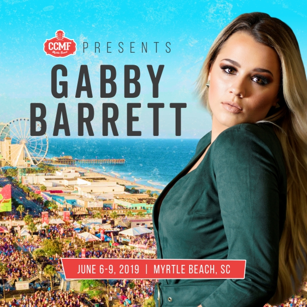 Gabby Barrett will be heading to Myrtle Beach, South Carolina to perform at the Carolina Country Music Fest. CCMF runs from June 6-9.