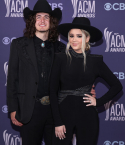 Gabby Barrett and Cade Foehner at the 56th ACM Awards
