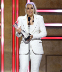 2021 CMT Artists Of The Year honoree Gabby Barrett accepting her award