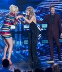 Katy Perry, Gabby Barrett, and Ryan Seacrest on stage at American Idol 2019.