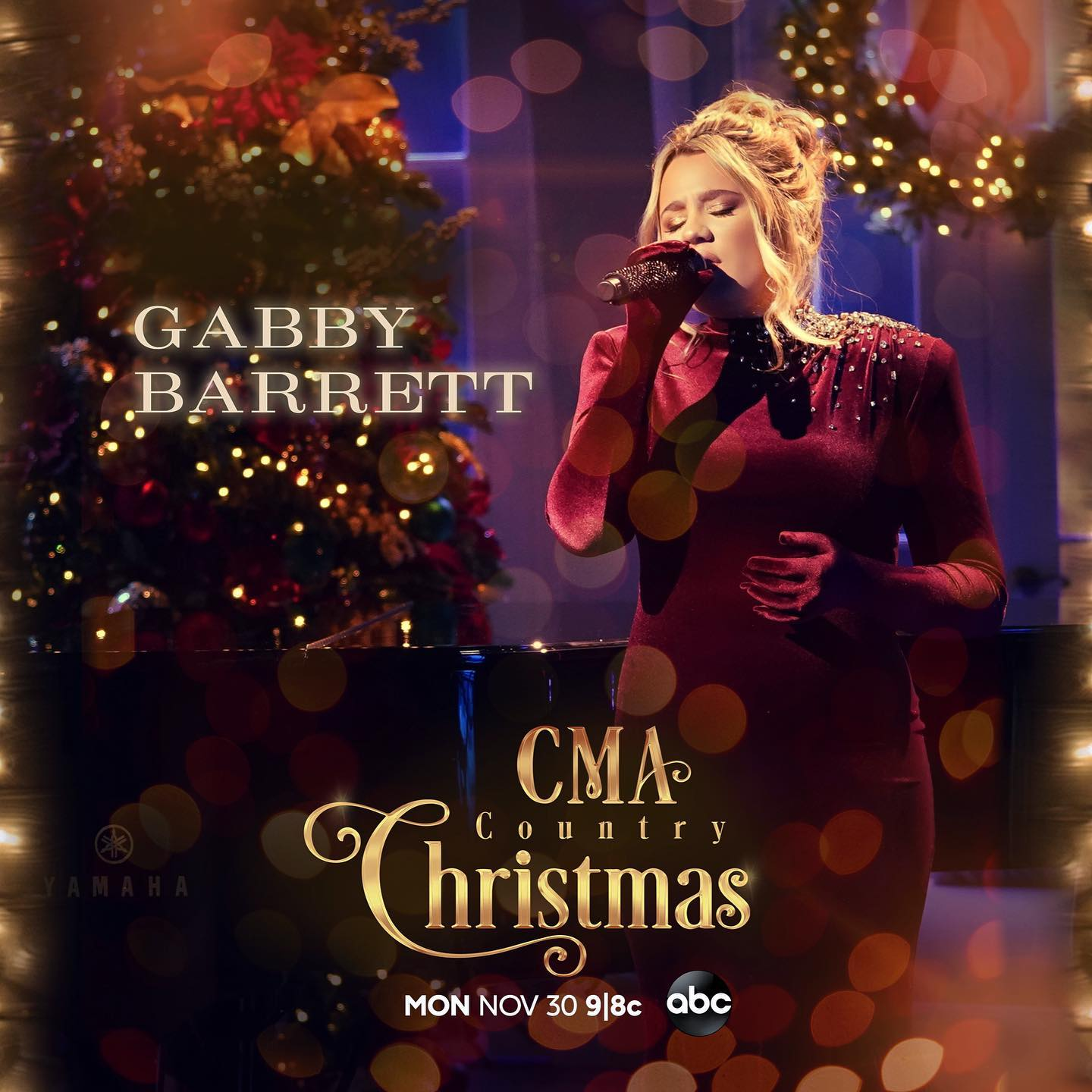 GABBY BARRETT PERFORMING DURING THE 11TH ANNUAL CMA COUNTRY CHRISTMAS AIRING ON ABC MONDAY, NOVEMBER 30, 2020