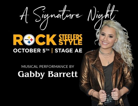 Gabby Barrett to Perform at Rock Steelers Style 2018: A Signature Night