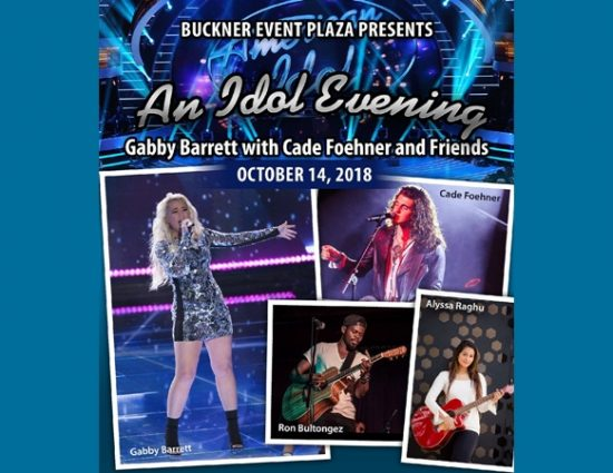 An Idol Evening…Gabby Barrett with Cade Foehner and Friends – October 14