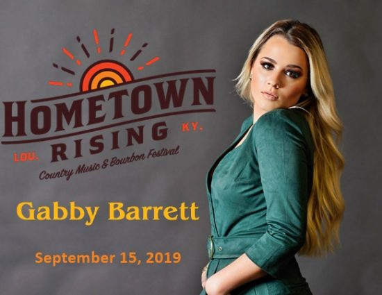 Gabby Barrett to Perform at Hometown Rising Country Music & Bourbon Festival – September 15