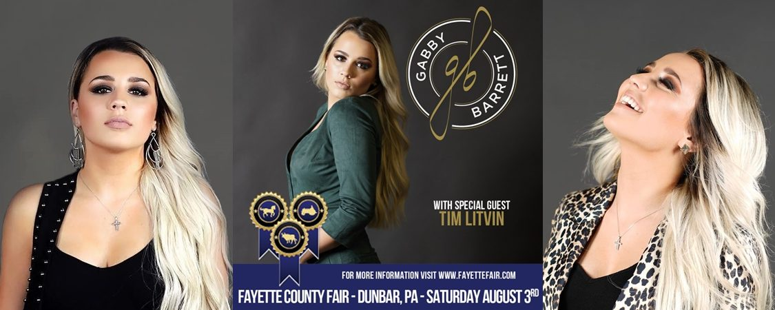 Gabby Barrett to Perform at Fayette County Fair – August 3
