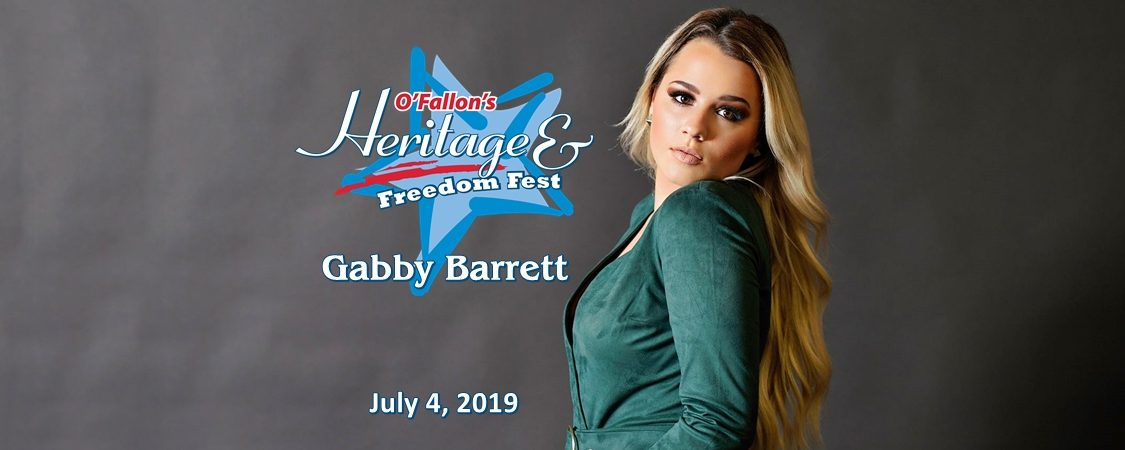 Gabby Barrett to Perform at O'Fallon's Heritage & Freedom Fest – July 4