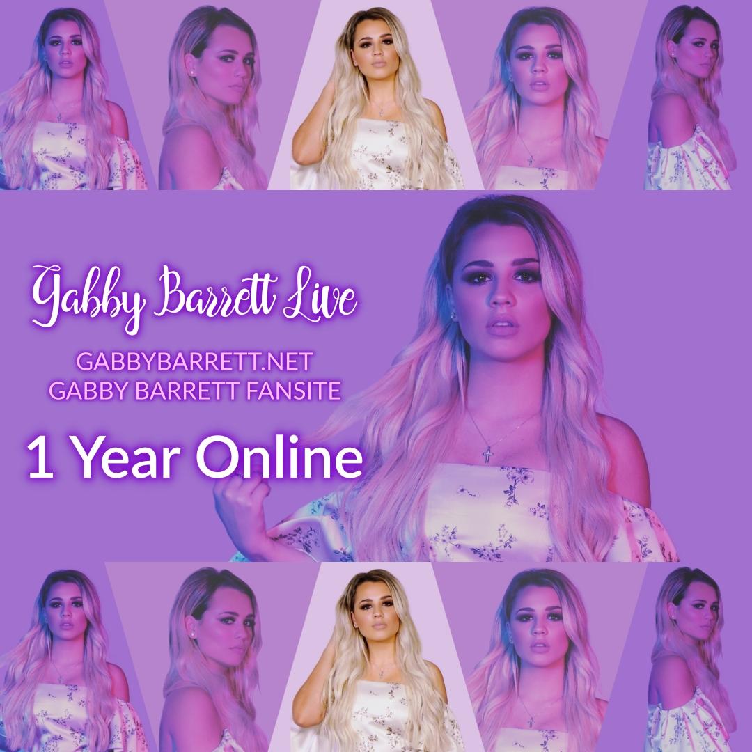 Today, on August 2, 2019, the Gabby Barrett Fansite, GabbyBarrett.net, is celebrating 1 year online!