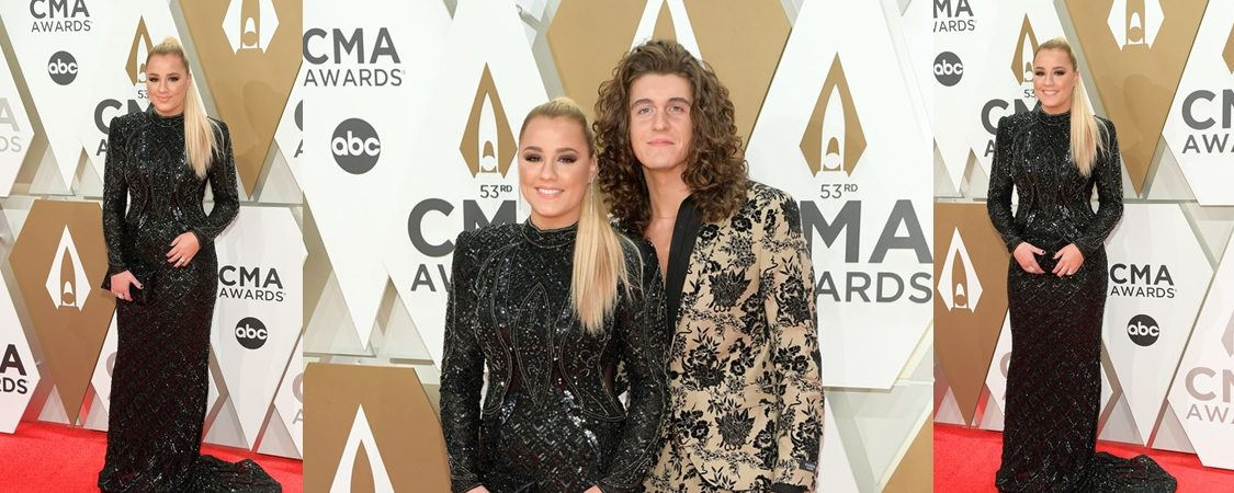 Gabby Barrett and Cade Foehner Attend the 2019 CMA Awards