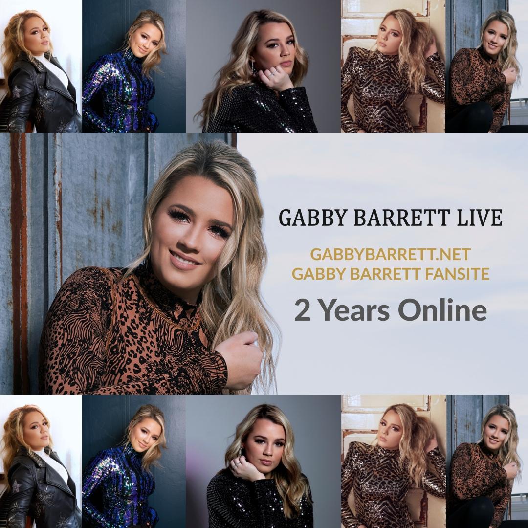 Today, on August 2, 2020, the Gabby Barrett Fansite, GabbyBarrett.net, is celebrating 2 years online!