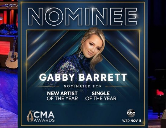 Gabby Barrett Earns First-Ever CMA Nominations