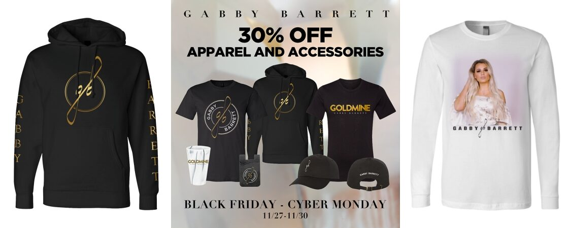 Shop Gabby Barrett Merch BLACK FRIDAY – CYBER MONDAY Sale