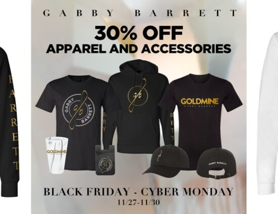 Shop Gabby Barrett Merch BLACK FRIDAY – CYBER MONDAY Sale