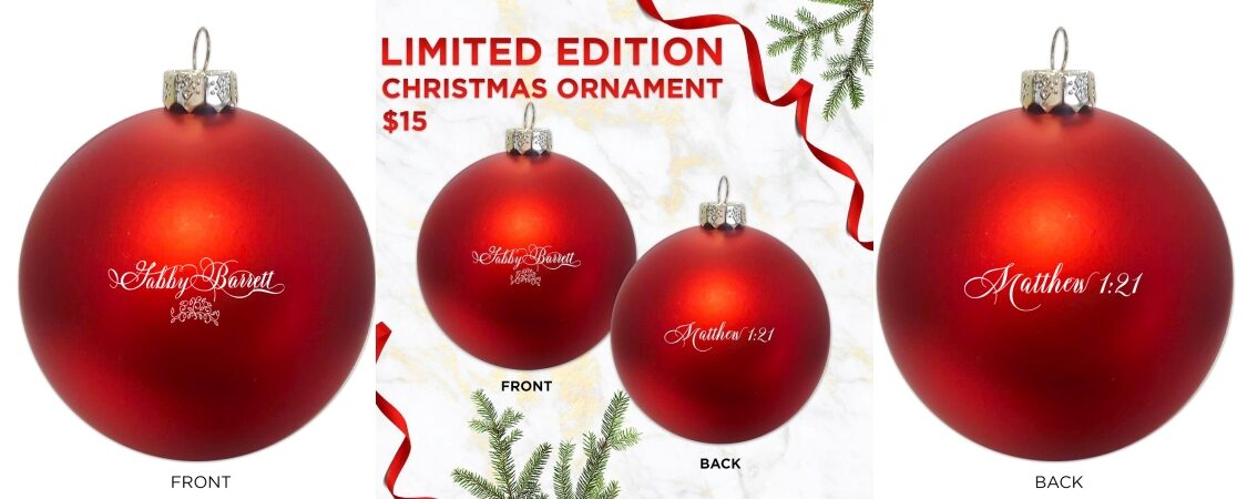 Gabby Barrett Limited Edition Christmas Ornament