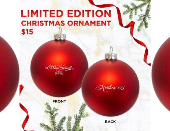 Gabby Barrett Limited Edition Christmas Ornament