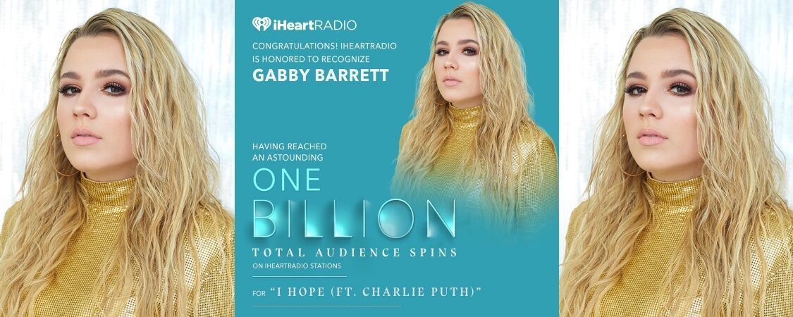 Gabby Barrett Earns 2020 iHeartRadio Titanium Award for 1 Billion Spins