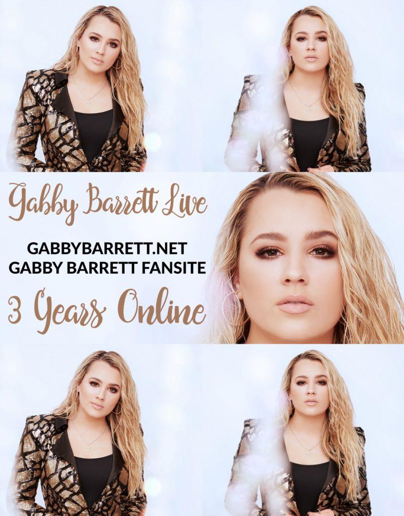 Today, on August 2, 2021, the Gabby Barrett Fansite, GabbyBarrett.net, is celebrating 3 years online!