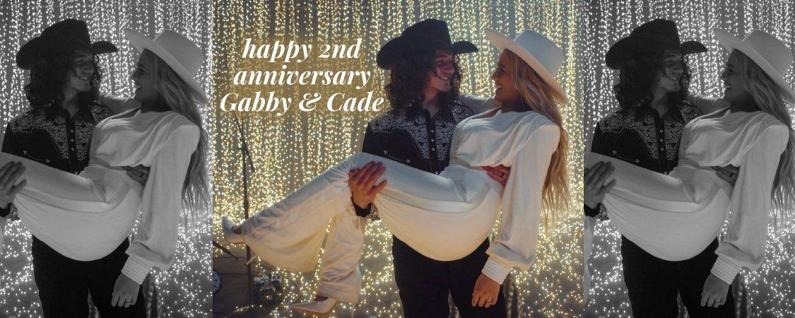 Happy 2nd Wedding Anniversary, Gabby Barrett & Cade Foehner!